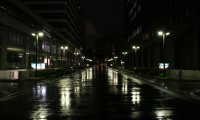 Rainy night in city
